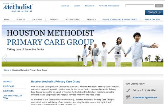 Houston Methodist SEO411 Portfolio SEO411 Houston Methodist