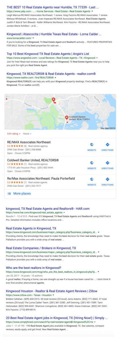 realtor google results SEO411 Franchise Owner and Real Estate Agent Google Survival Guide